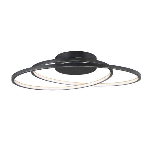 Cycle Black 25-Inch LED Flush Mount
