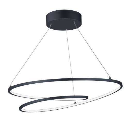 Cycle Black 25-Inch LED Pendant