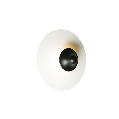 Radar White and Black One-Light ADA LED Wall Sconce
