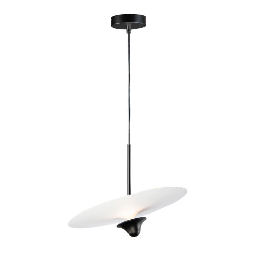 Quest White and Black One-Light LED Pendant