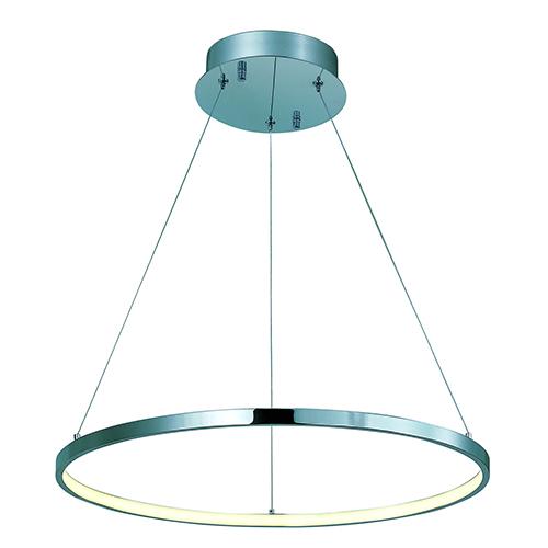 Hoops LED Polished Chrome 23-Inch LED Pendant Energy Star