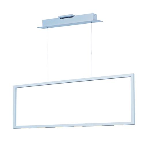 Rhombus Matte White Nine-Light LED Linear Pendant Energy Star