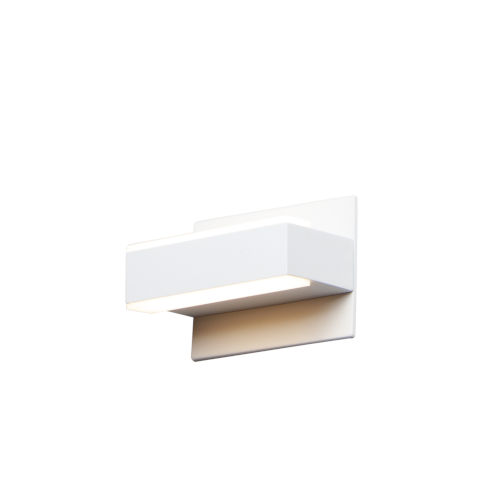 Waterfall White Five-Light LED Bath Vanity
