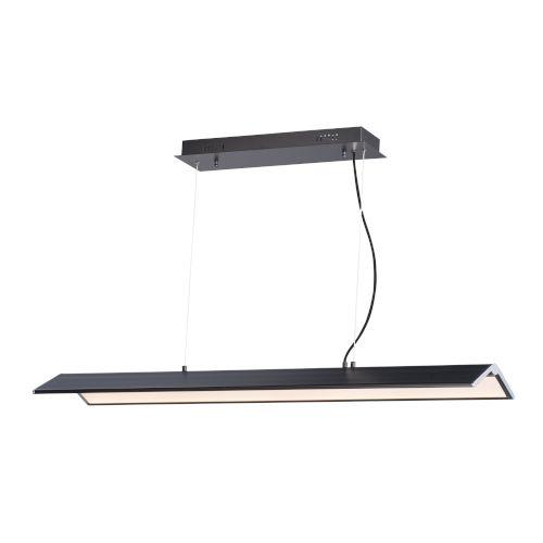 Glider Black and Polished Chrome One-Light LED Multi-Light Pendant