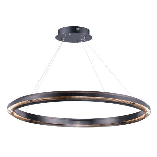 Echo Brushed Gunmetal One-Light LED Suspension Pendant