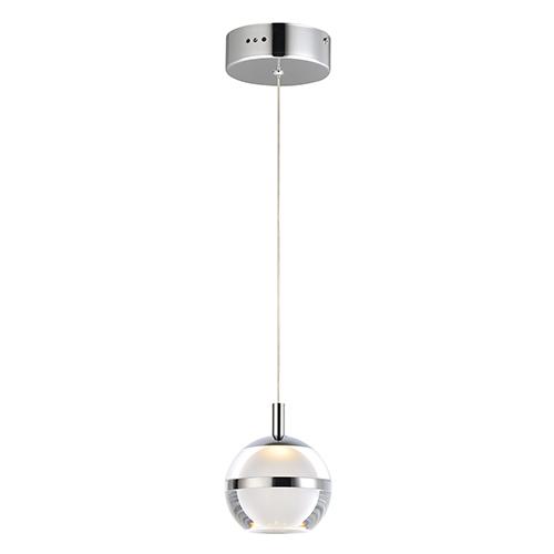 Swank Polished Chrome LED Mini Pendant