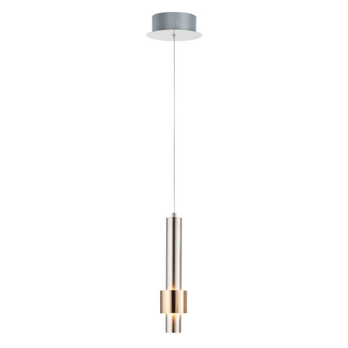 Reveal Satin Nickel and Satin Brass 3-Inch LED Pendant