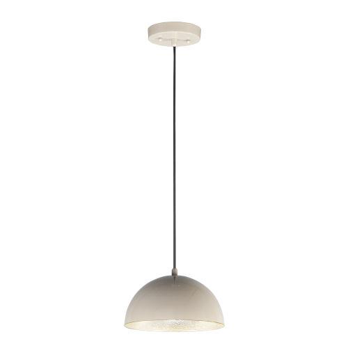 Hemisphere Gloss Taupe and Aluminum 9-Inch LED Pendant