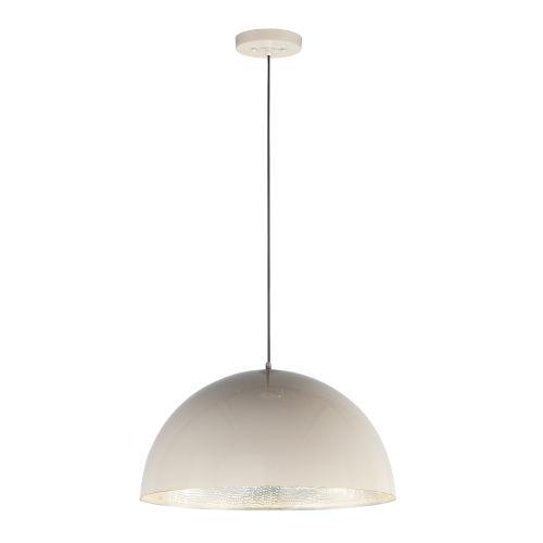 Hemisphere Gloss Taupe and Aluminum 24-Inch LED Pendant
