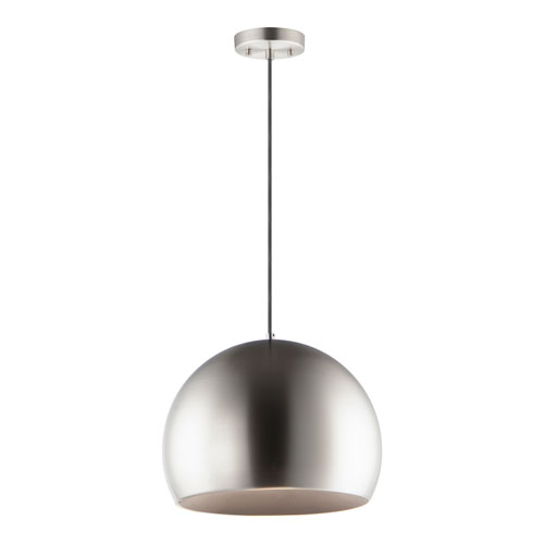 Palla Satin Nickel 20-Inch LED Pendant