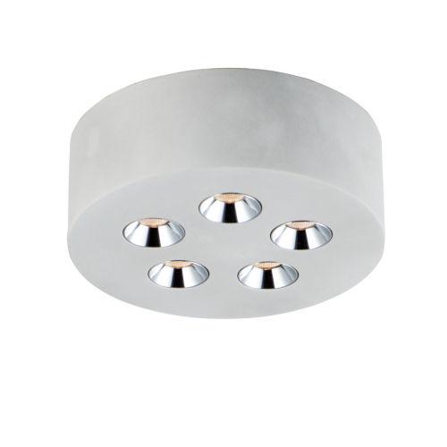 Peg Gray Five-Light LED Flush Mount