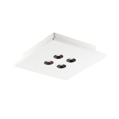 Dwell White Four-Light LED Flush Mount