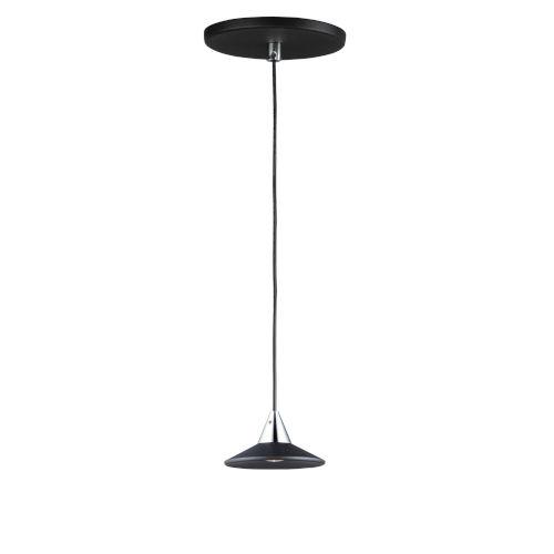 Black and Polished Chrome One-Light LED Mini Pendant