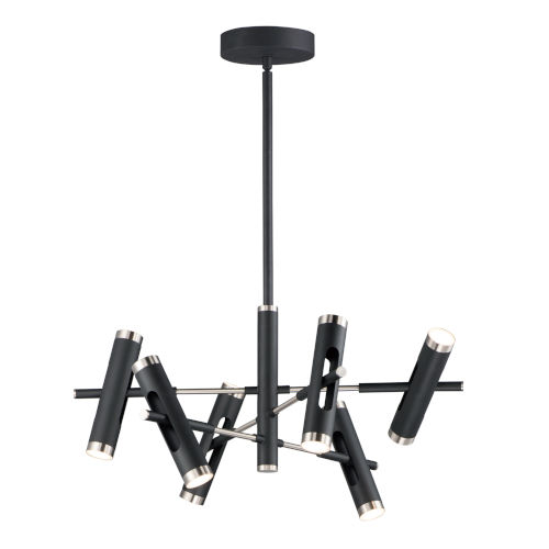 Ambit Black and Satin Nickel 12-Light LED Mini Pendant