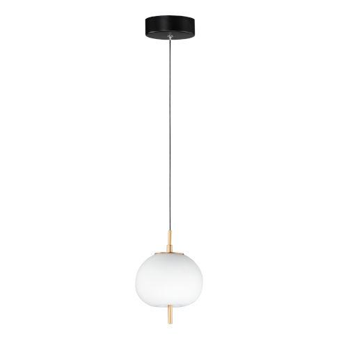 Penta Black and Gold One-Light LED Pendant