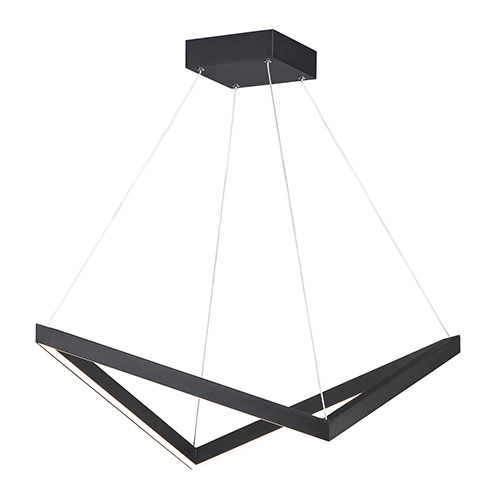 Stealth Black LED Single Pendant