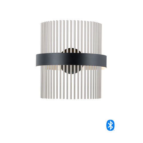 Chimes Black and Satin Nickel LED Smart Home Wall Sconce