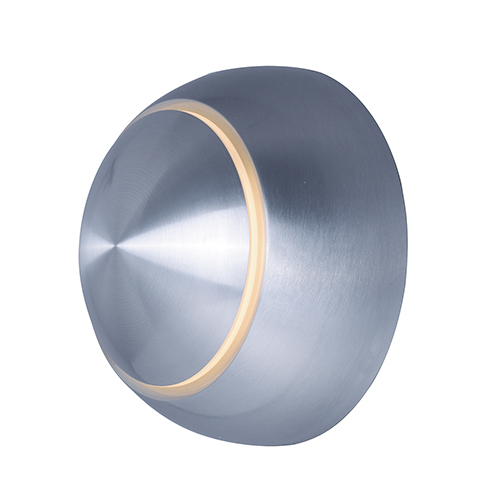 Alumilux Sconce Satin Aluminum Four-Inch LED Round Outdoor Wall Mount ADA/Energy Star