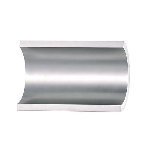 Alumilux Sconce Satin Aluminum and White Seven-Inch LED Outdoor Wall Mount ADA