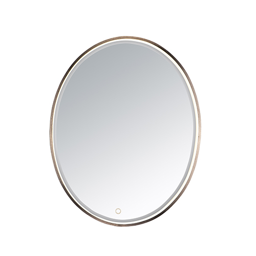 Mirror Anodized Bronze 24-Inch One-Light ADA LED Oval Mirror