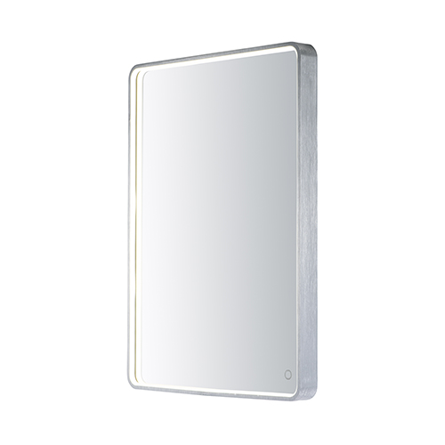 Mirror Brushed Aluminum 24-Inch One-Light ADA LED Mirror