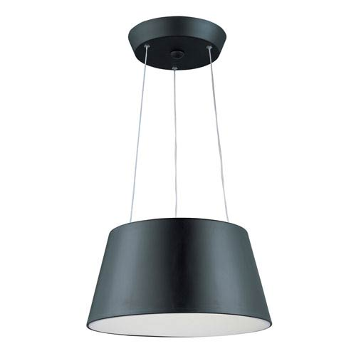 Quantum Black Two-Light LED 18-Inch Pendant