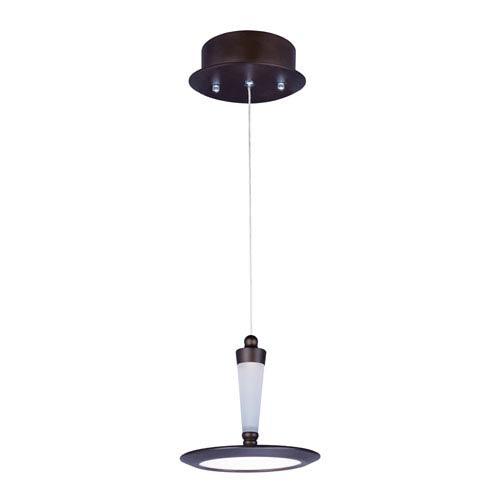 Hilite Bronze One-Light LED 7-Inch Mini Pendant