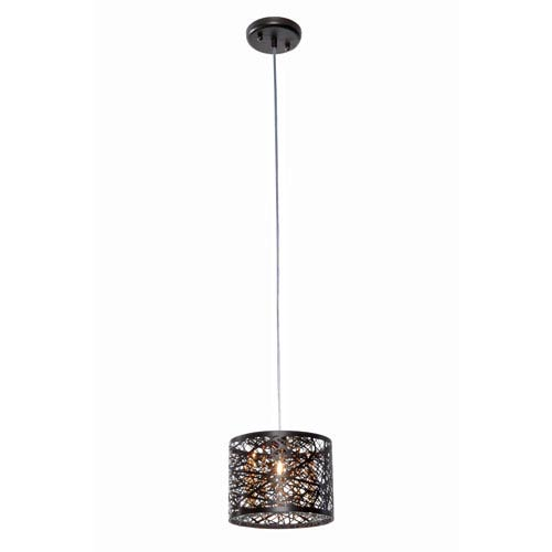 ET2 Inca Bronze 8-Inch One Light Mini Pendant