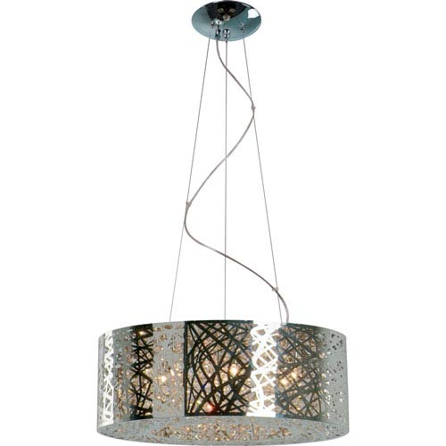 Inca Polished Chrome Nine-Light Pendant