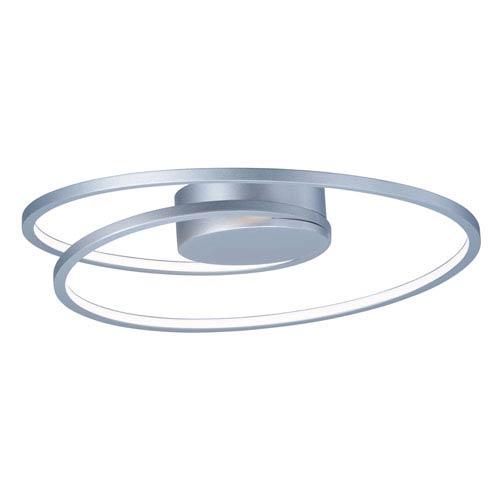 Cycle Matte Silver LED 18-Inch Semi Flush Mount