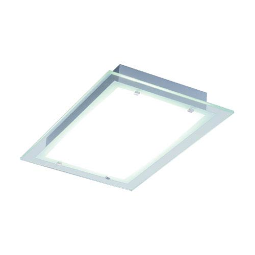Contempra Brushed Aluminum 13.75-Inch Fluorescent Two Light Flush Mount