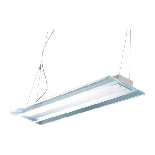 ET2 Contempra Brushed Aluminum 2-Inch Fluorescent Two Light Linear Mini Pendant
