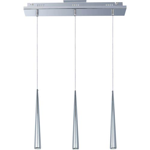 ET2 Taper Polished Chrome Three-Light Mini Pendant