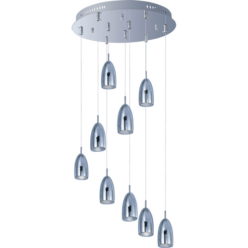 ET2 Bullet Polished Chrome Nine-Light LED Mini Pendant