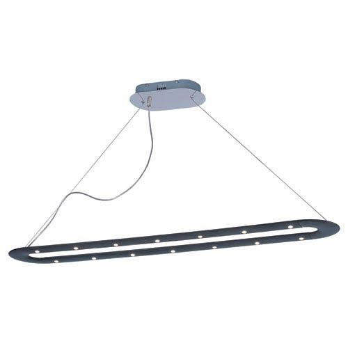 Trak Black LED 18 Light Linear Mini Pendant