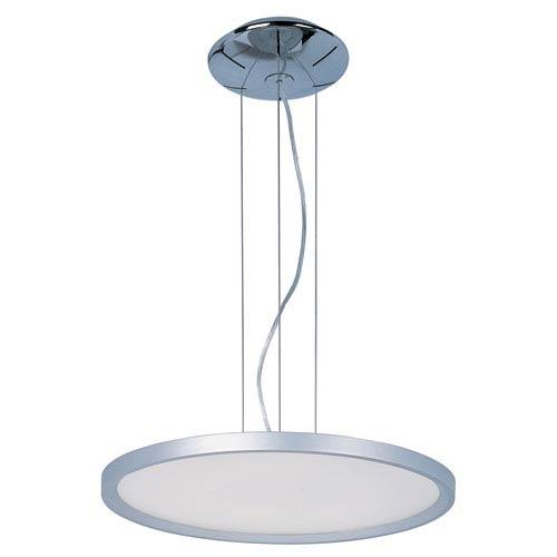 Moonbeam Metallic Silver 19.5-Inch One Light LED Single Pendant