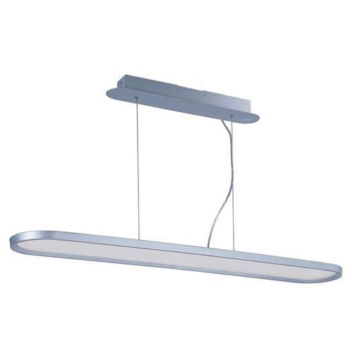 Moonbeam Metallic Silver One-Light LED 47-Inch Pendant