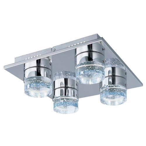 ET2 Fizz IV Polished Chrome LED Four Light Flush Mount