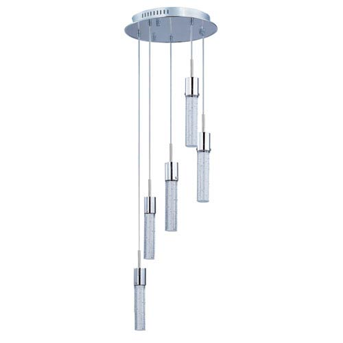 ET2 Fizz IV Polished Chrome LED Five Light Multi Light Pendant