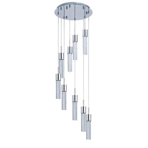 ET2 Fizz IV Polished Chrome LED Nine Light Multi Light Pendant