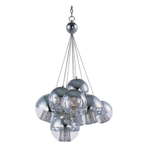 ET2 Reflex Polished Chrome Nine Light LED Single Pendant