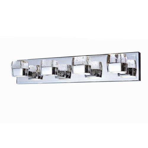 Volt Polished Chrome Eight-Light LED 27-Inch Bath Fixture
