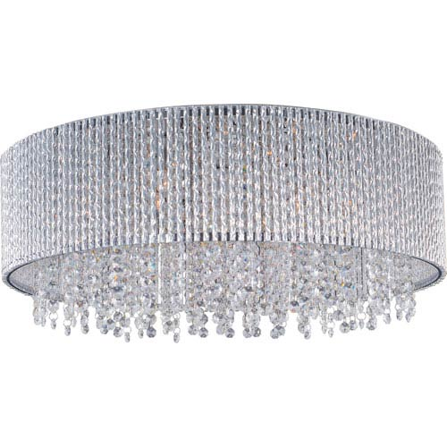 Spiral Polished Chrome Ten-Light Flush Mount