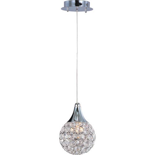 Brilliant Polished Chrome One-Light Mini Pendant