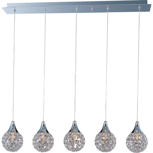 Brilliant Polished Chrome Five-Light Mini Pendant