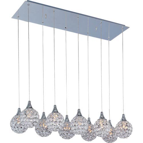 ET2 Brilliant Polished Chrome Ten-Light Mini Pendant