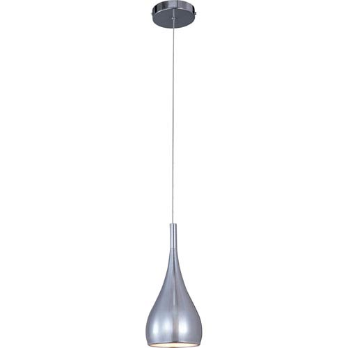 Teardrop Polished Chrome One-Light Mini Pendant