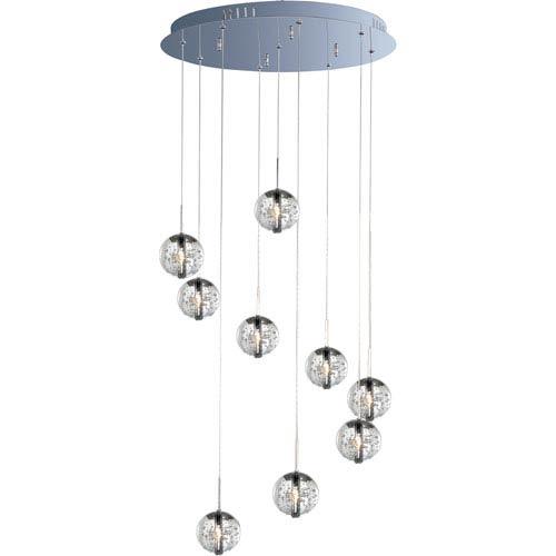 ET2 Orb Polished Chrome Nine-Light Mini Pendant