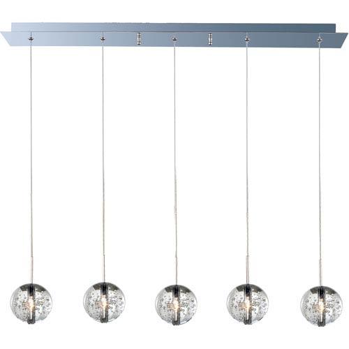 ET2 Orb Polished Chrome Five-Light Mini Pendant