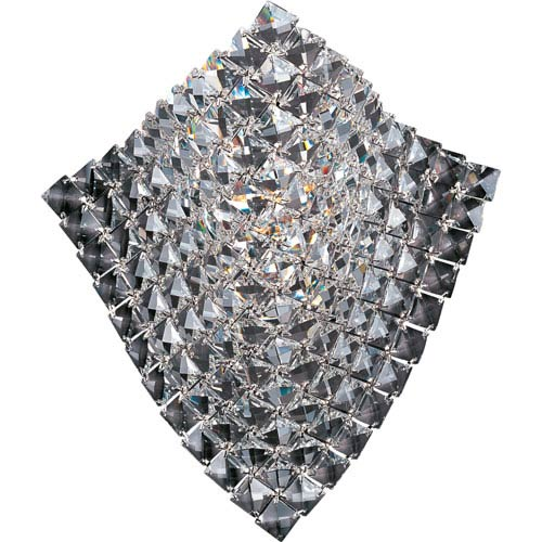 Wave Polished Chrome One-Light Wall Sconce